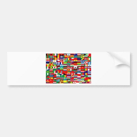 FLAGS OF THE WORLD BUMPER STICKER