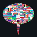 "Flags of the World Cake Topper<br><div class=""desc"">World Flags</div>"