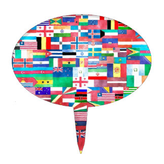 Flags of the World Cake Toppers