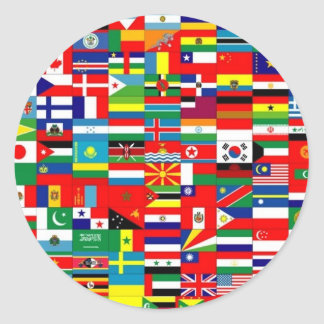 FLAGS OF THE WORLD CLASSIC ROUND STICKER