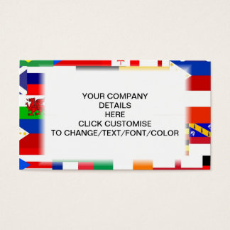 Flags of the world collage business card