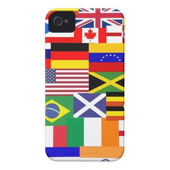 Flags of the world collage iPhone 4 case