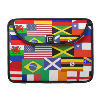 Flags of the world collage sleeve for MacBook pro