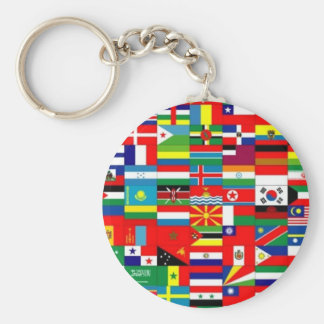 FLAGS OF THE WORLD - COLORFUL BEST SELLER! KEYCHAIN