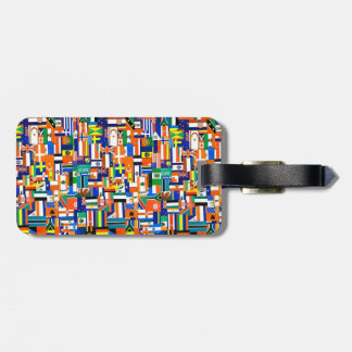 """Flags of the World"" Decoupage Luggage Tag"