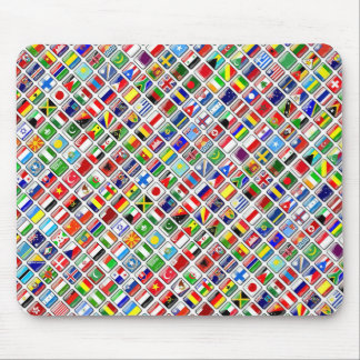 Flags of the World, Diagonal Style Mouse Pad
