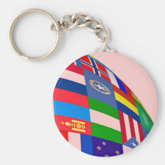 FLAGS OF THE WORLD JAPAN IRAQ IRAN MID-EAST INDIA BASIC ROUND BUTTON KEYCHAIN