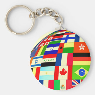 FLAGS OF THE WORLD KEYCHAIN