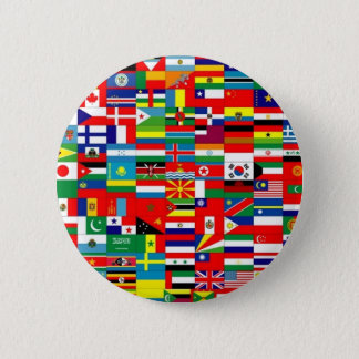 FLAGS OF THE WORLD PINBACK BUTTON