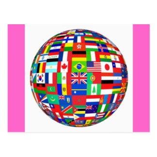 Flags of the World Postcard