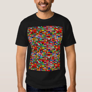 FLAGS OF THE WORLD - printed front and back T-Shirt