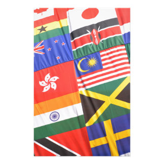 Flags of the world stationery