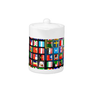 Flags of the world teapot