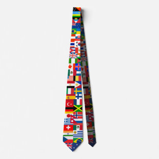 Flags of the World Tie
