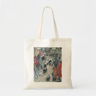 Flags on 57th Street by Childe Hassam, Vintage Art Tote Bag