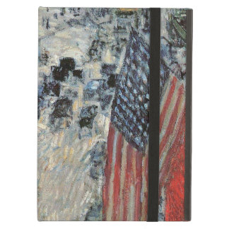 Flags on 57th Street, Hassam Vintage Impressionism Case For iPad Air