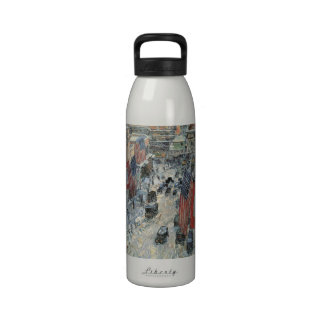 Flags on 57th Street Hassam Vintage Impressionism Water Bottle