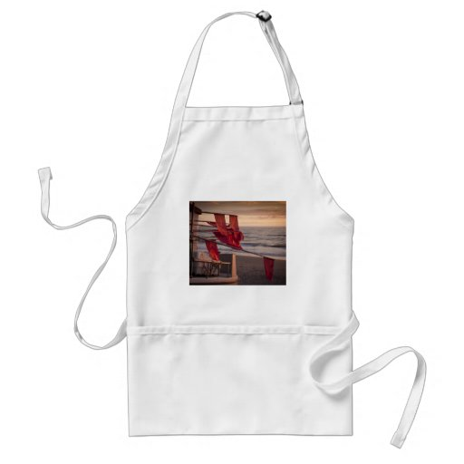 Flags on a boat aprons