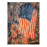 """""""""""Flags on the Waldorf"""" by Childe Hassam Postcard"""