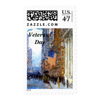 Flags on the Waldorf by Hassam Postage