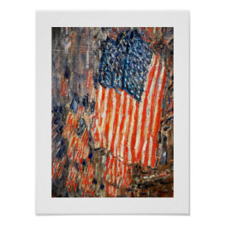 """Flags on the Waldorf"". Fine Art Poster"