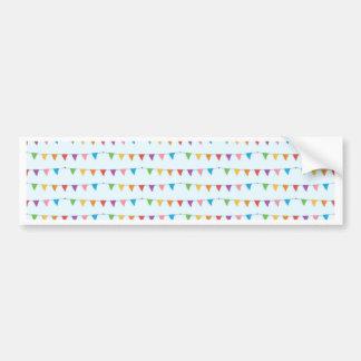 Flags pattern bumper sticker
