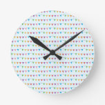 Flags pattern round wall clocks