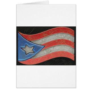 Flags- Puerto Rico Card