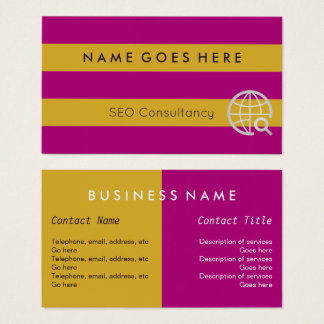 """""""Flags"""" SEO Consultant Business Cards"""