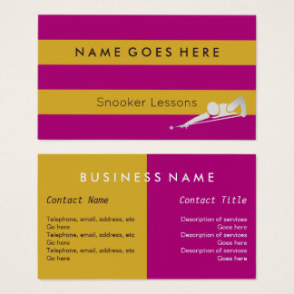 """Flags"" Snooker Business Cards"