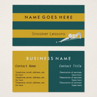 """""""Flags"""" Snooker Business Cards"""