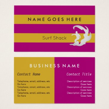 "Professional Business ""Flags"" Surfing Business Cards"