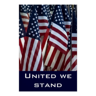 Flags ... United we stand Poster