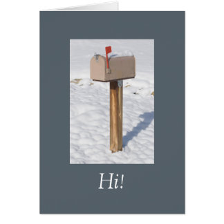 Flag's up Winter Mailbox Template Card