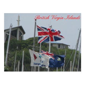 Flags @ Virgin Gorda Postcard