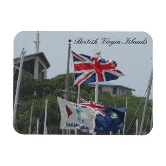 Flags @ Virgin Gorda Rectangular Photo Magnet