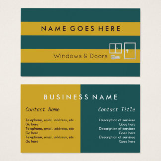 """""""Flags"""" Windows and Doors Business Cards"""