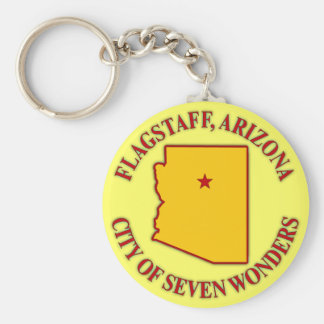 Flagstaff, Arizona Basic Round Button Keychain