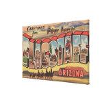Flagstaff, Arizona - Large Letter Scenes Canvas Print