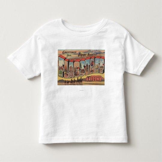 Flagstaff, Arizona - Large Letter Scenes Toddler T-shirt