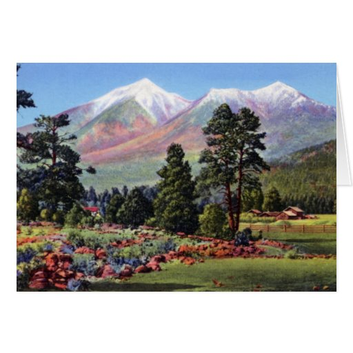 Flagstaff Arizona San Francisco Peaks Card