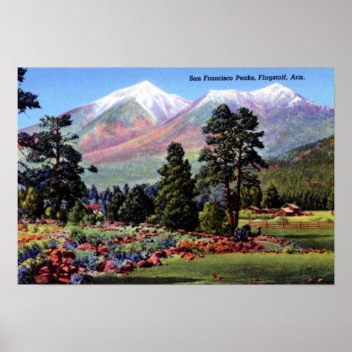 Flagstaff Arizona San Francisco Peaks Posters