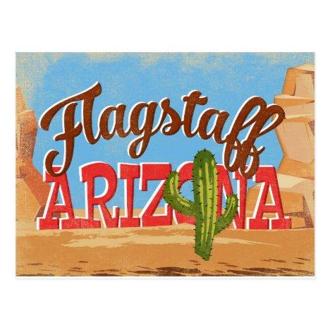 Flagstaff Arizona Vintage Travel Postcard