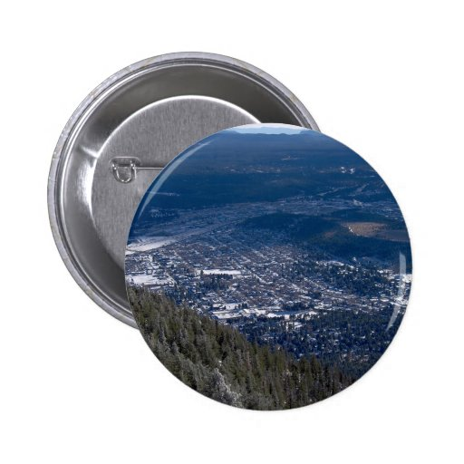 Flagstaff As Viewed From Atop Mount Elden, After A 2 Inch Round Button