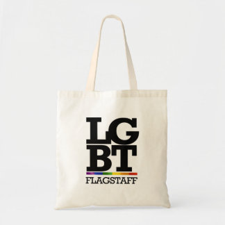 FLAGSTAFF LGBT -.png Canvas Bags