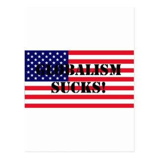 FlagUSAGlobalismSucks Postcard
