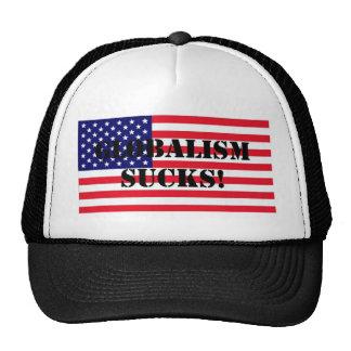 FlagUSAGlobalismSucks Trucker Hat