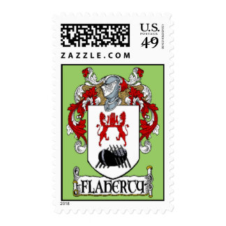 Flaherty Coat of Arms Postage Stamps
