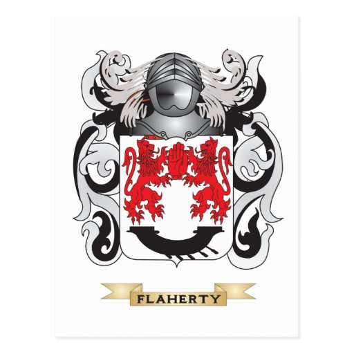 Flaherty Coat of Arms Postcard