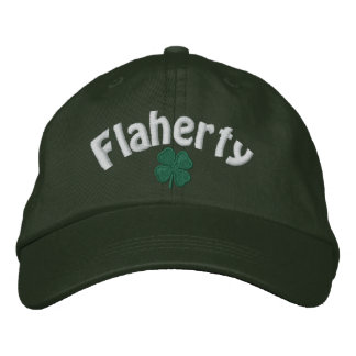 Flaherty  - Four Leaf Clover - Customized Embroidered Baseball Cap